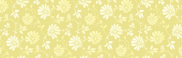 温かい雰囲気が作りやすそうな黄色と白のシンプルなパターン | 商用利用も可なフリーの花柄パターン素材