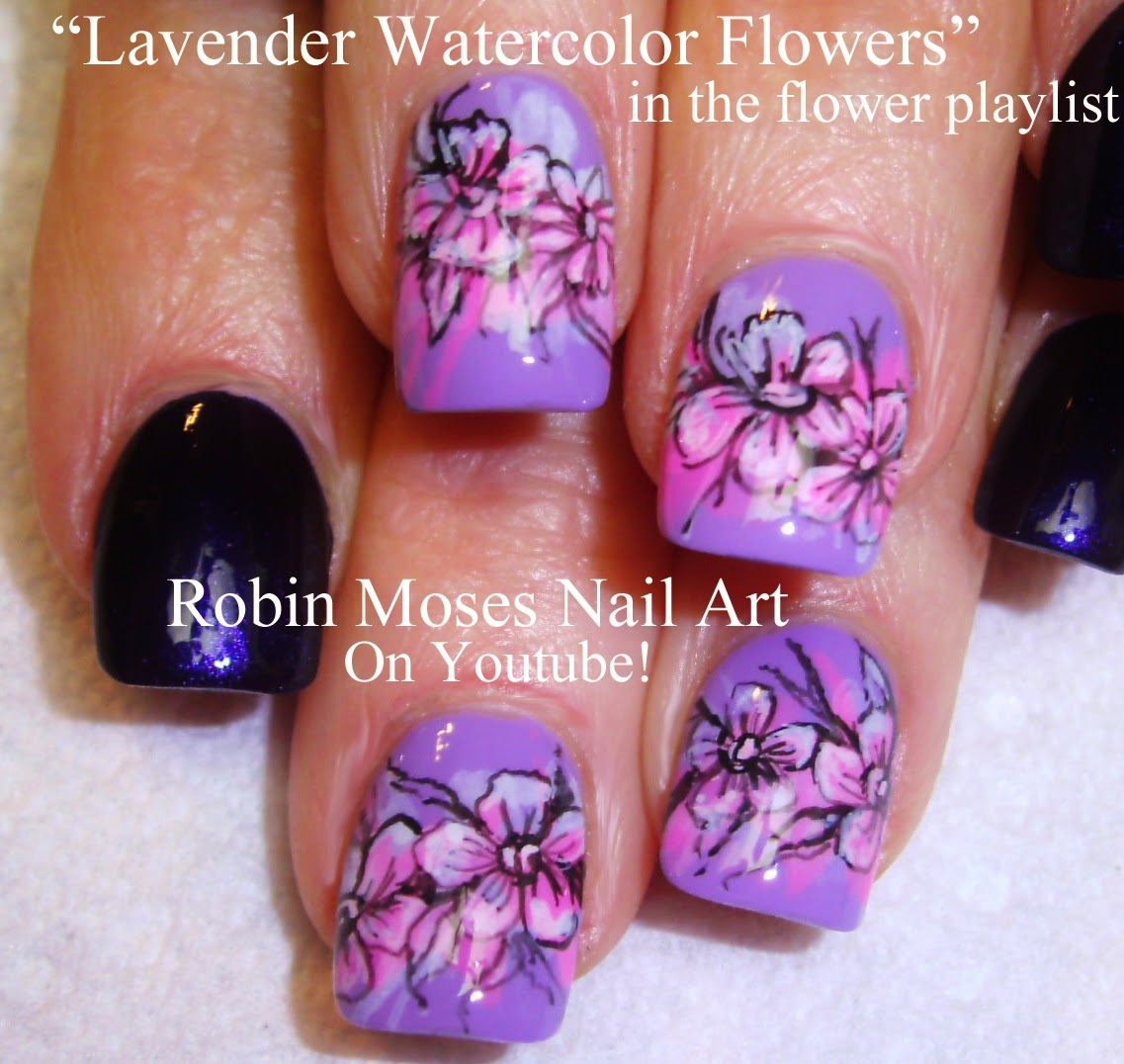 "Robin Moses Nail Art Designs: Nail Art By Robin Moses: ""flower Nails"" ""black And White"