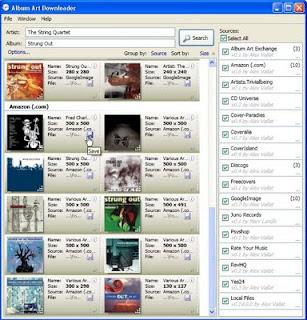 Album Art Downloader Portable 0.38.2: Dapatkan Cover Koleksi Musik
