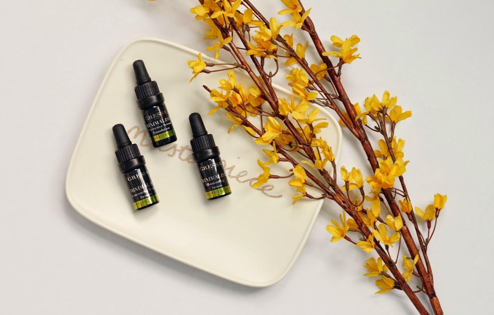 gressa minimalist serum foundation, gressa minimalist illuminating serum, gressa contour bronzing serum