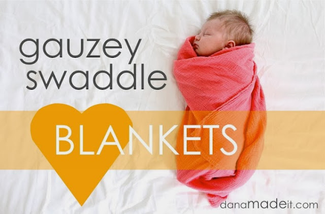 Swaddle Blanket DIY, Gauze cotton swaddle Blanket