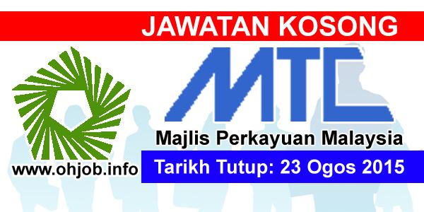 Jawatan Kerja Kosong Majlis Perkayuan Malaysia (MTC) logo www.ohjob.info ogos 2015
