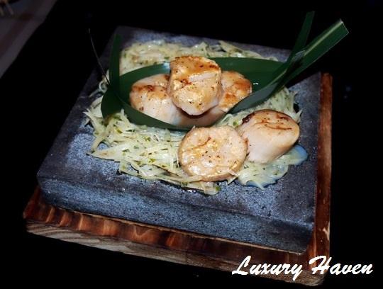 lone pine matsu japanese hotate ishiyaki scallops