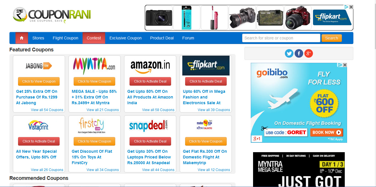 Couponrani the best place to save money while shopping for Great places to shop online