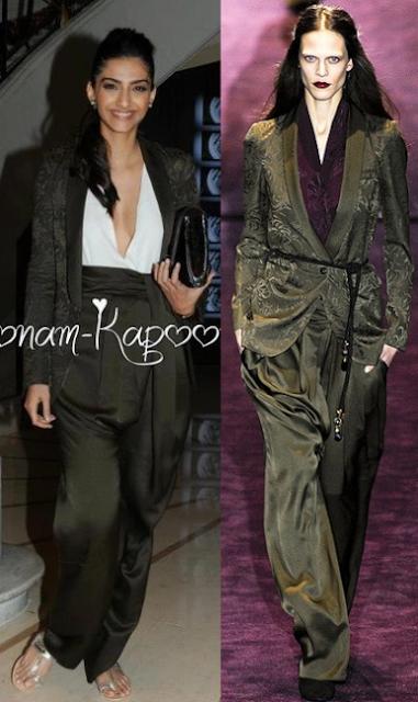 Sonam Kapoor gucci suit