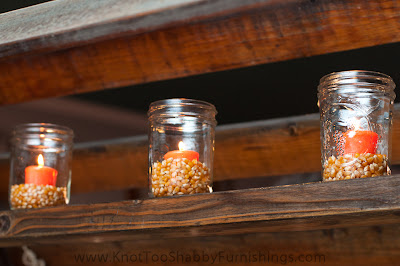 corn kernels in candle holders