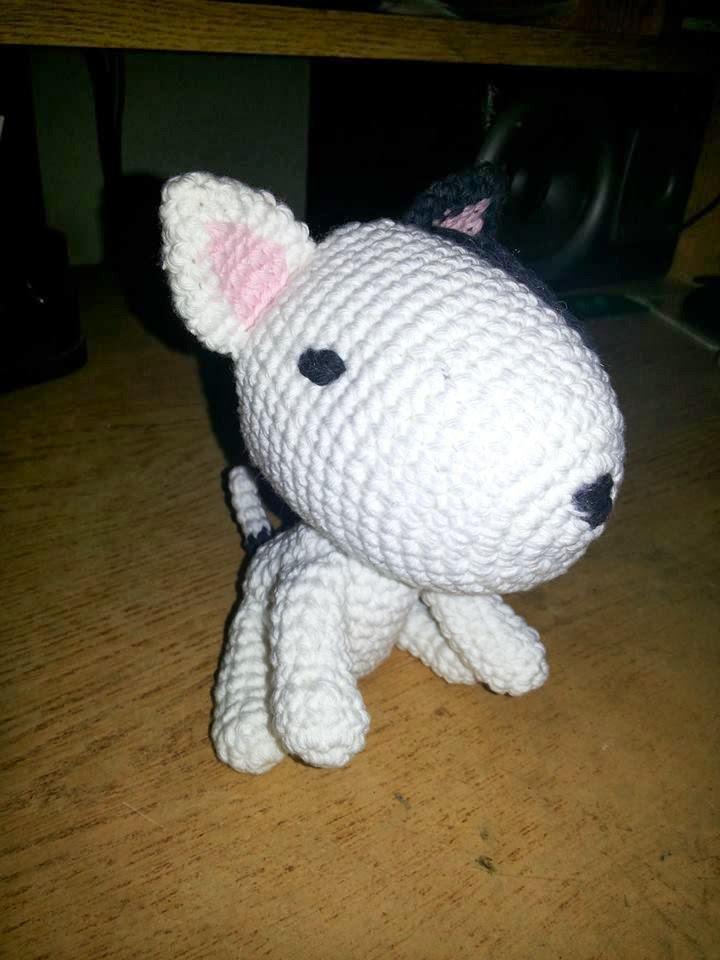 Fox Terrier Amigurumi Patron : By Me: Bebe Bull Terrier