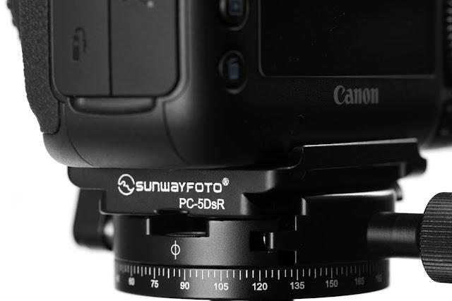Sunwayfoto PC-5DsR plate on Canon 5Ds rear-side-view