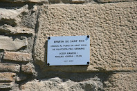 Placa commemorativa de la capella de Sant Roc. Autor: Carlos Albacete