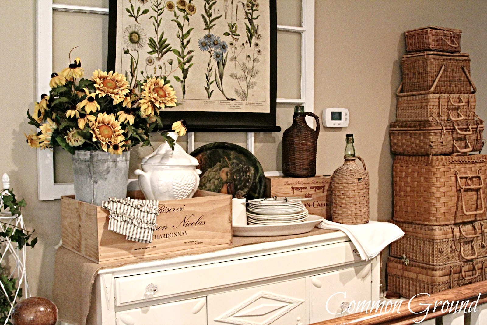 Common ground what 39 s on the sideboard this month for Flea market home decor