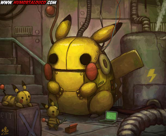 18 animações do mundo dos vídeos games e desenhos - Monstro Pikachu Pokemon Robô
