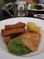 Cod, chips and mushy peas - Pollen, Gardens by the Bay