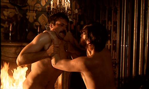 That Oliver reed alan bates wrestling