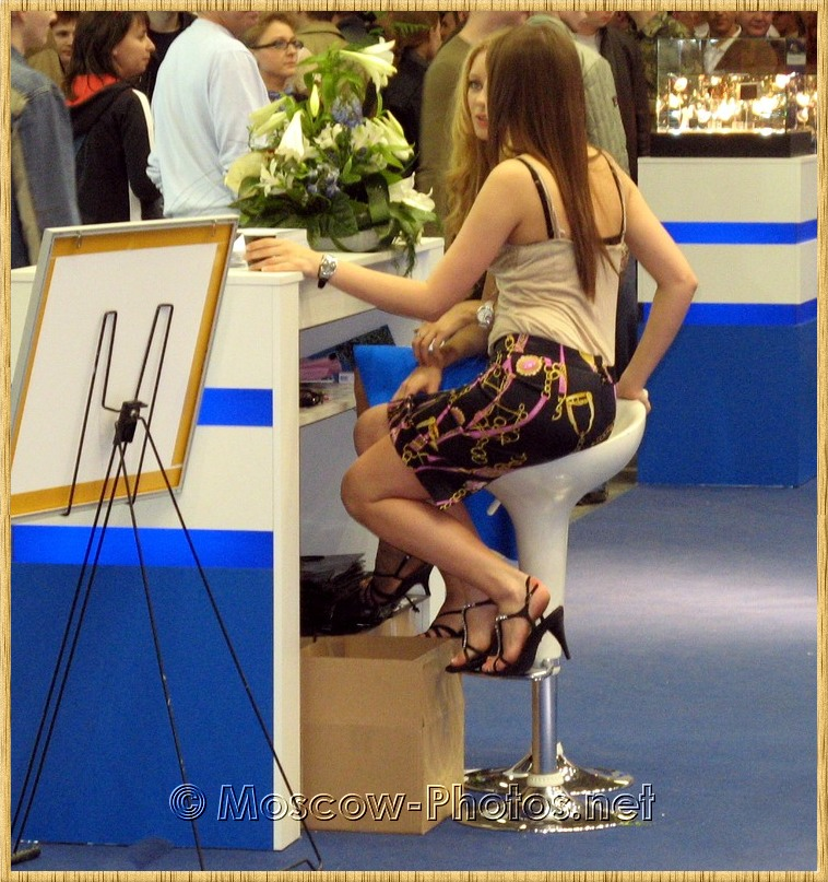 Promotion models at Photoforum - 2008