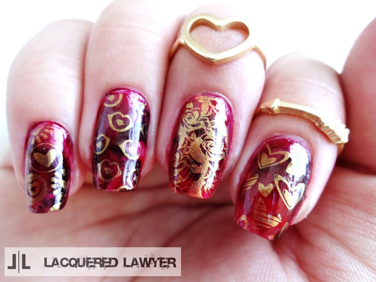Love nail stamping