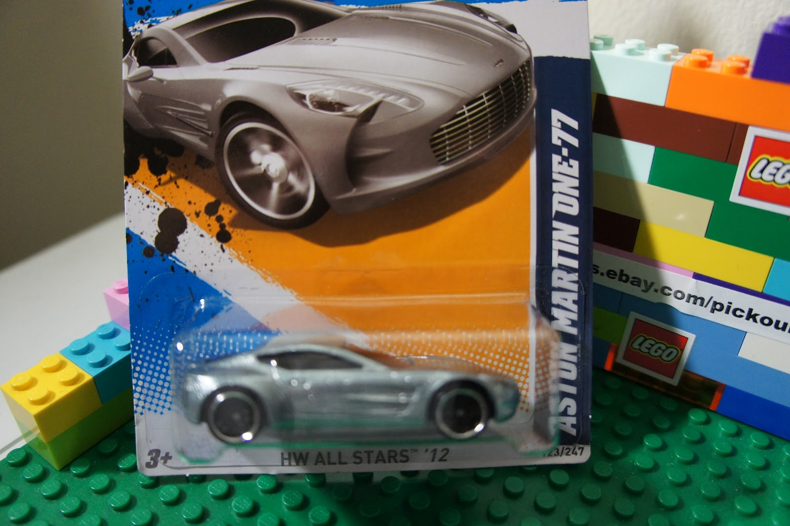 Hot Wheels Silver Chrome Aston Martin One 77 Diecast HW All Stars '12 3 10