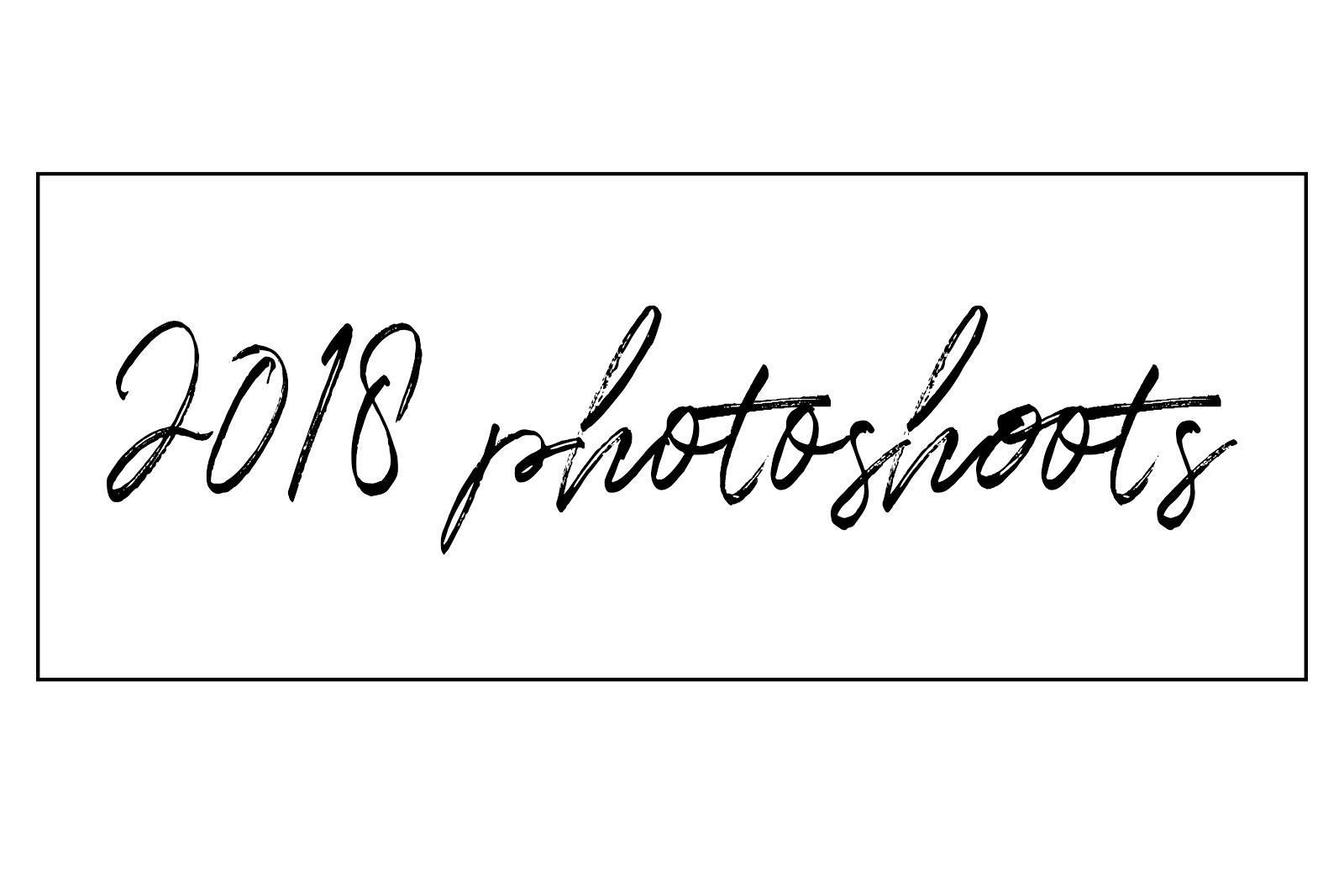 2018 Photoshoots