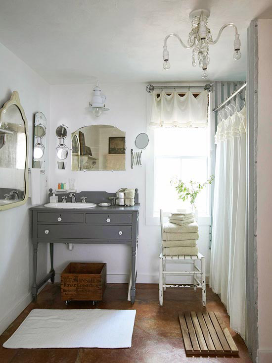 Living the anthropologie way of life modern vintage for Retro bathroom designs