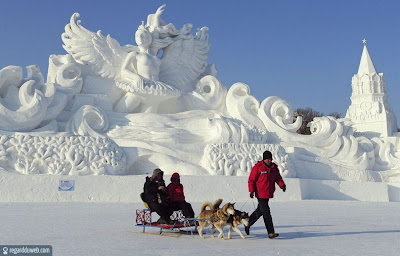 Images amusantes et incroyables Art - Sculpture Glace v22