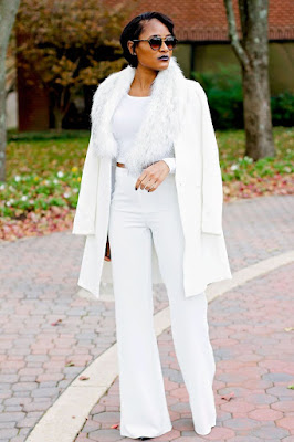 How to wear white clothes in the Winter