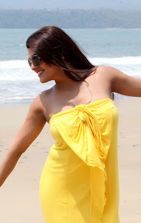 Tashu Kaushik Pictureshoot Gallery in Strapless Yellow Dress ~ Celebs Next