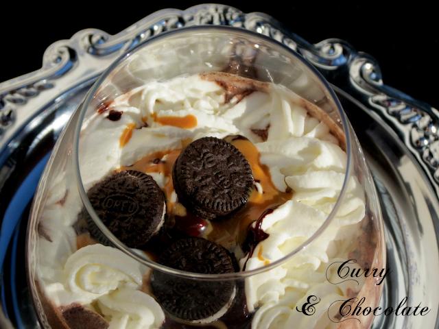 Batido de Oreos y helado de chocolate
