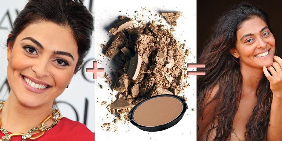 pele escura, bronzeada, pele morena, base escura, pó escuro, gabriela, Juliana paes, maquiagem, caracterização, queimada de sol, pele morena