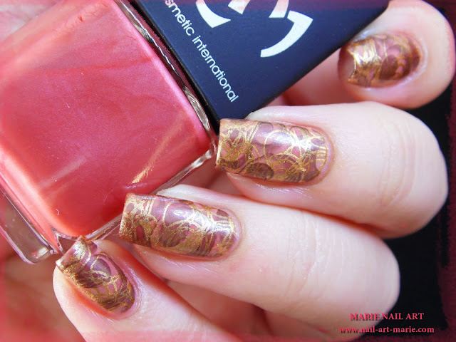 Nail Art Double Stamping Automnale7