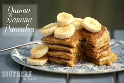Low Fat Banana Quinoa Pancake Recipe