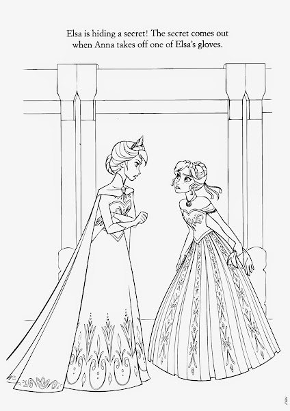 Frozen Disney On Ice Coloring Pages