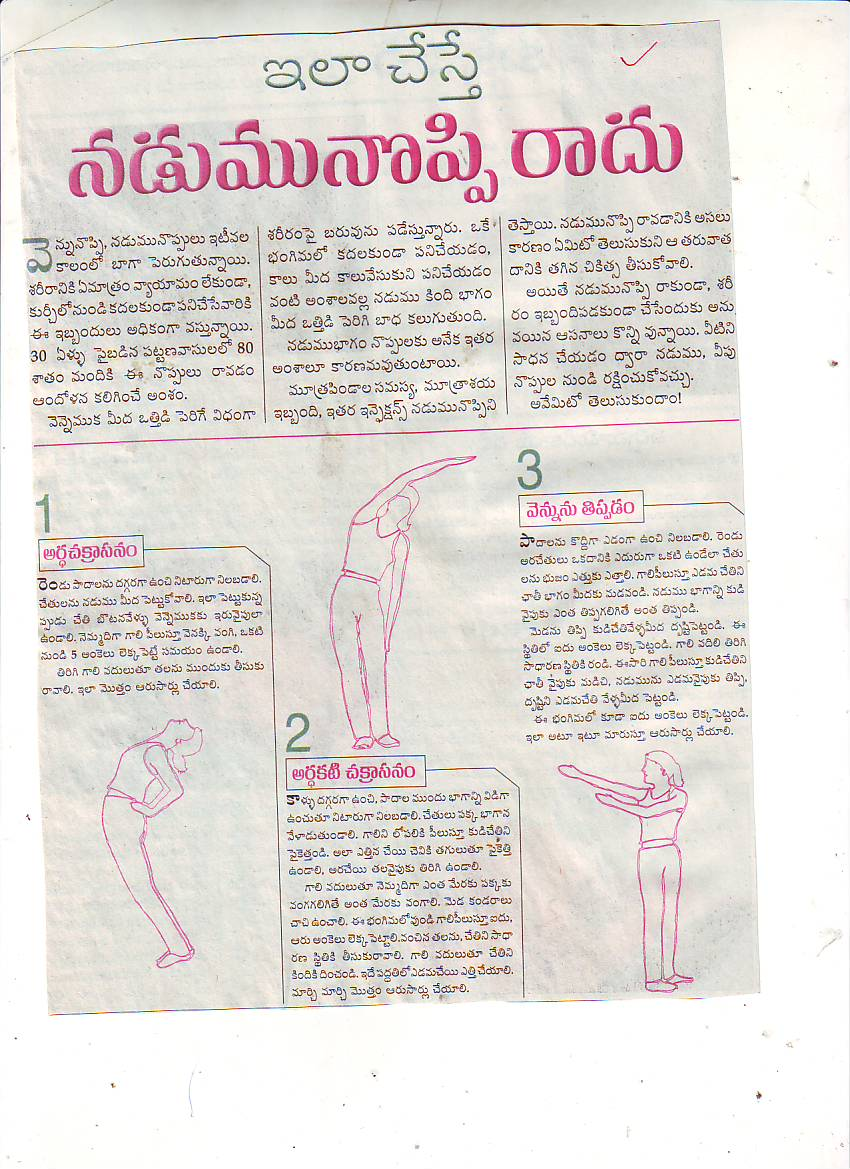 Waist pain or lumbago lumbago in middle age causes and for Cuisine meaning in telugu