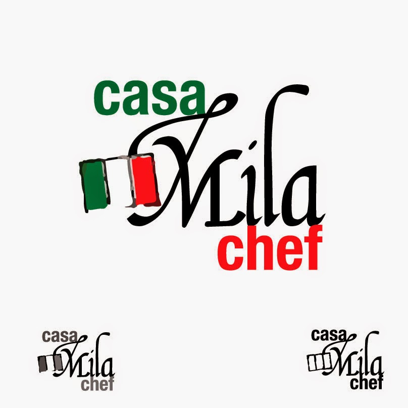 logo de Casa mila Chef, restaurante de comida italiana, evoca a Italia por su bandera.