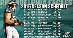 2015 Eagles' Schedule