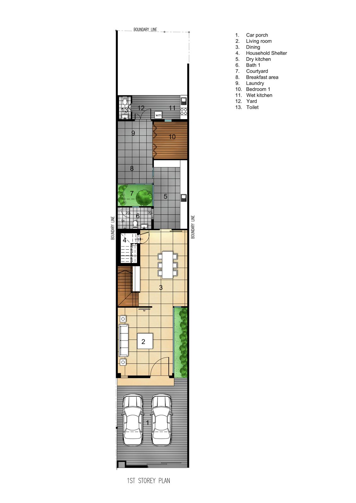 Rumah Minimalis di Lahan 6x21 Meter 8