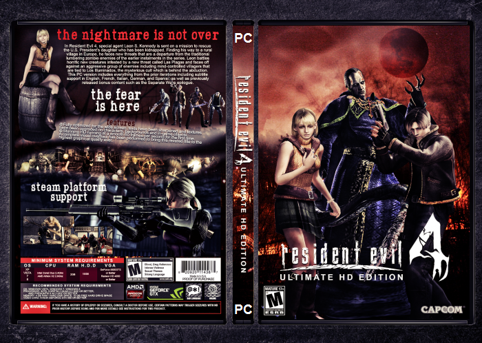 Resident Evil 4 Ultimate HD Edition PC DVD Capa