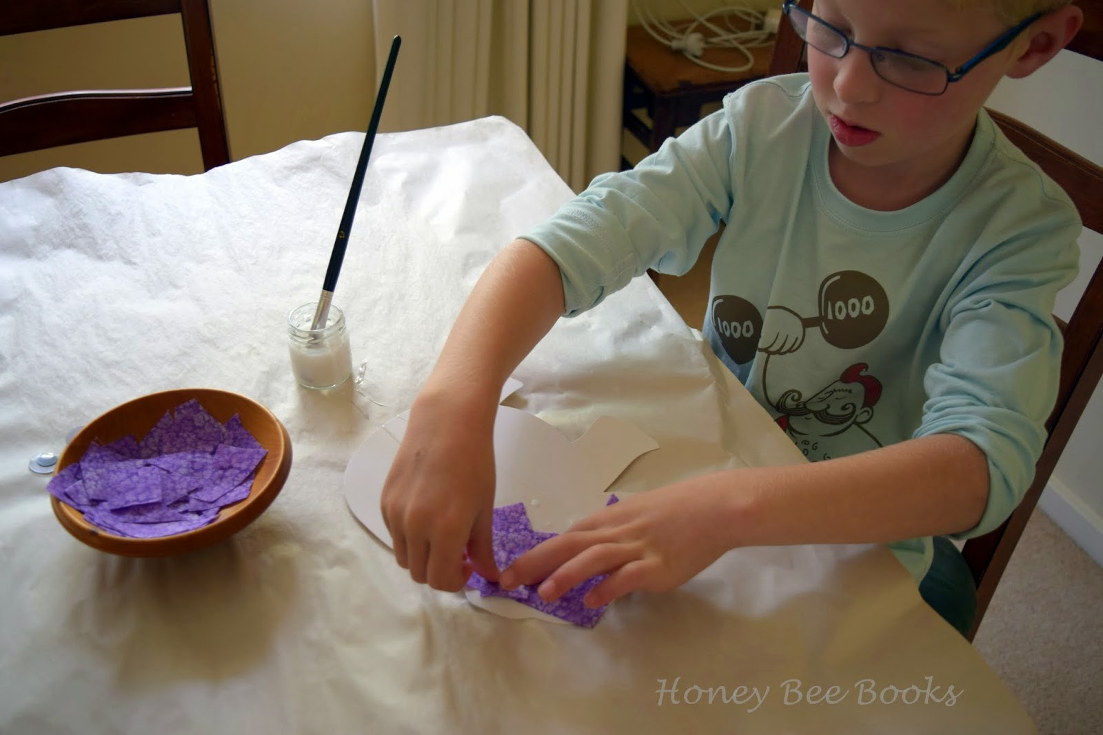 Creating a purple elephant collage