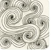 Zentangle-Muster. Tangle: Goldilocks, Designer: Beate Winkler, CZT