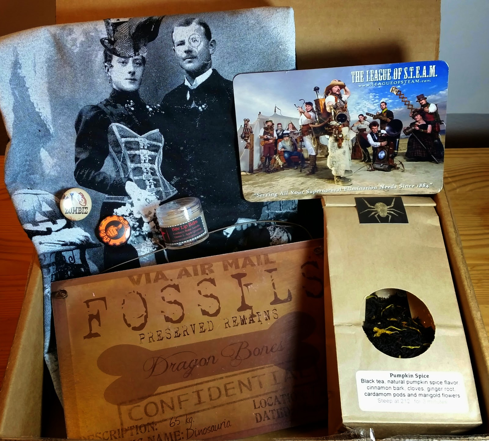 clockwork couture october 2014 steampunk box review bits and boxes