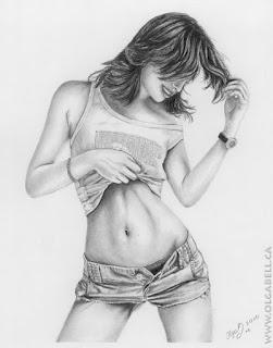 Dibujos Lapiz Mujeres Hermosas