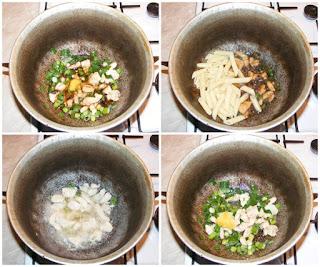 preparare mancare de paste cu piept de pui si ghimbir, retete culinare, retete de mancare, paste, ghimbir, pui, retete cu paste, preparate din paste, retete cu pui, preparate din pui,