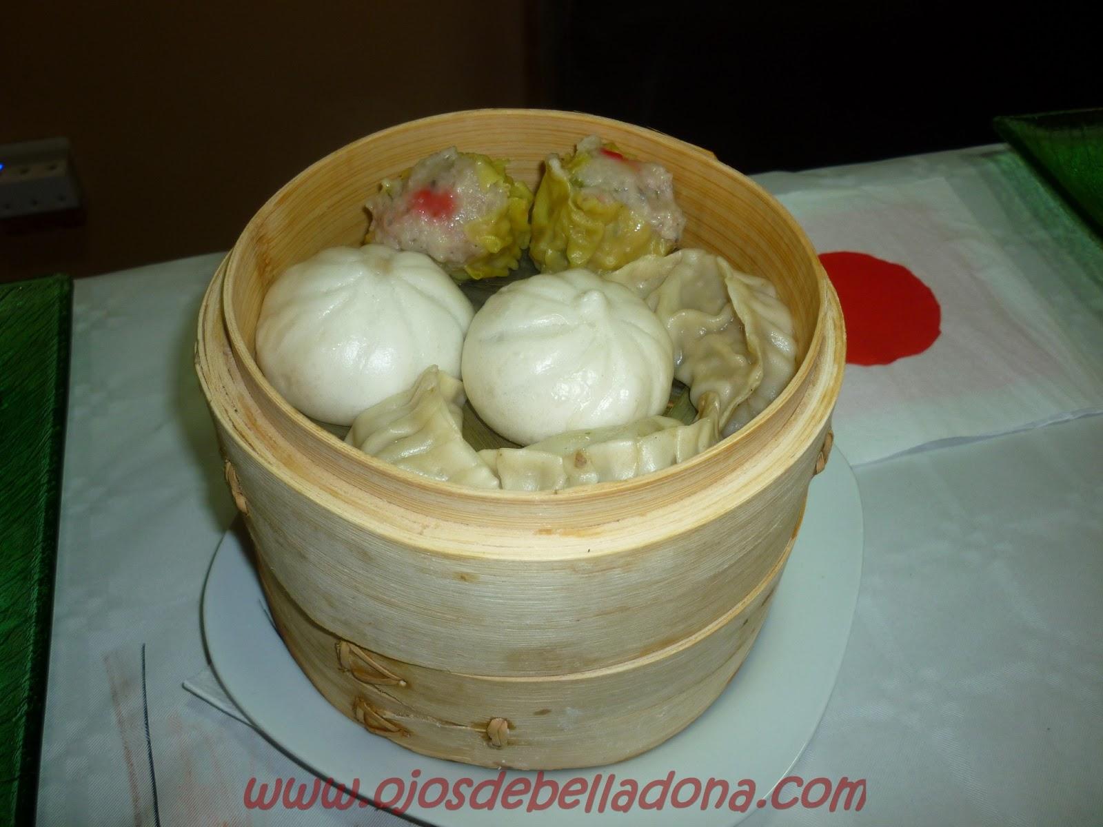 Dim Sum en vaporera bambú