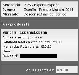 Apuestas Deportivas Rosberg Fútbol – Clasificación Mundial 2014 España Francia lbapuestas bono