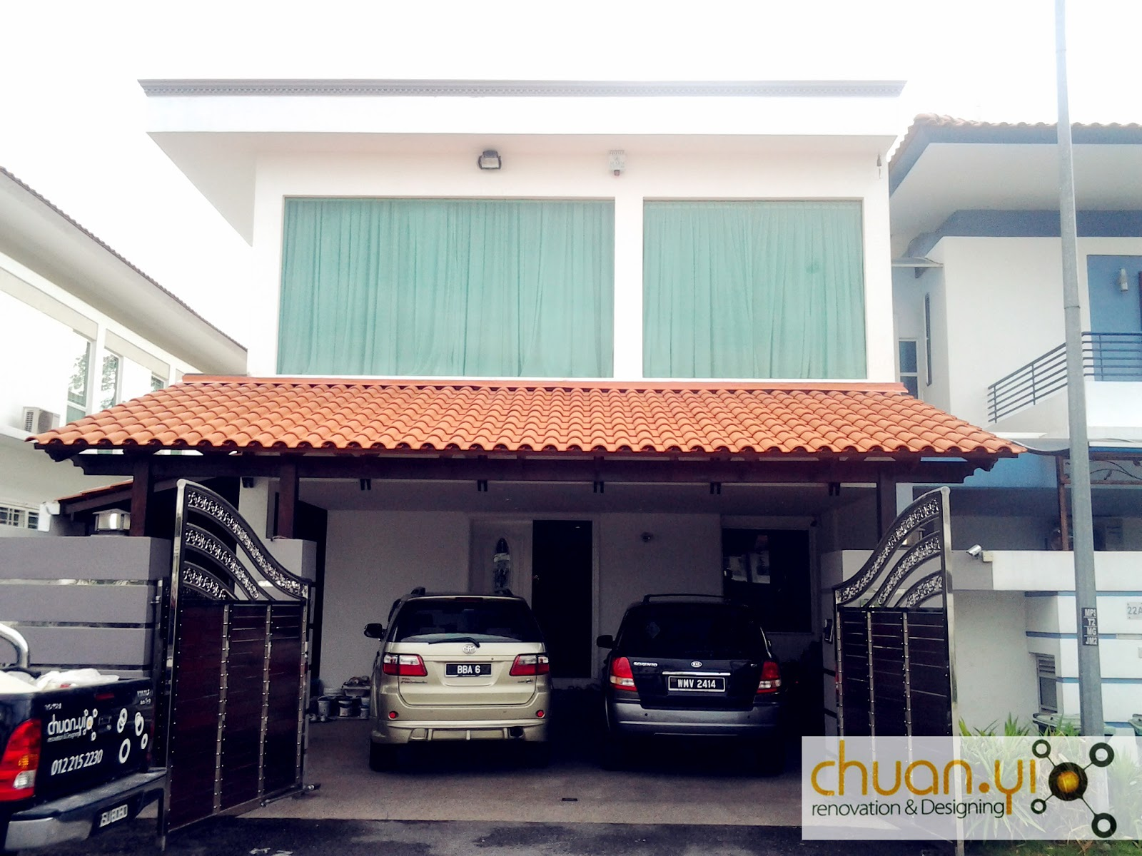 chuan yi construction renovation sdn bhd car porch
