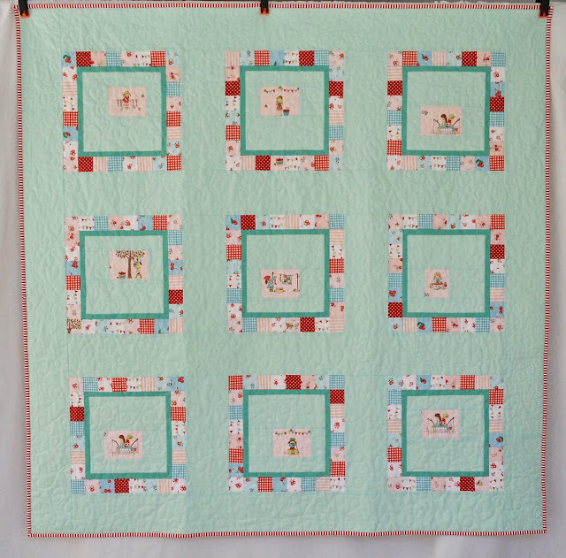 vintage and modern patchwork quilt by tessa marie handmade