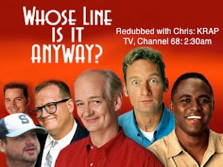 Whose line is it anyway? TV show poster image with cast of show