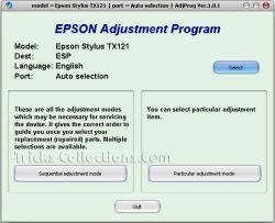 CARA RESET PRINTER EPSON STYLUS TX 121