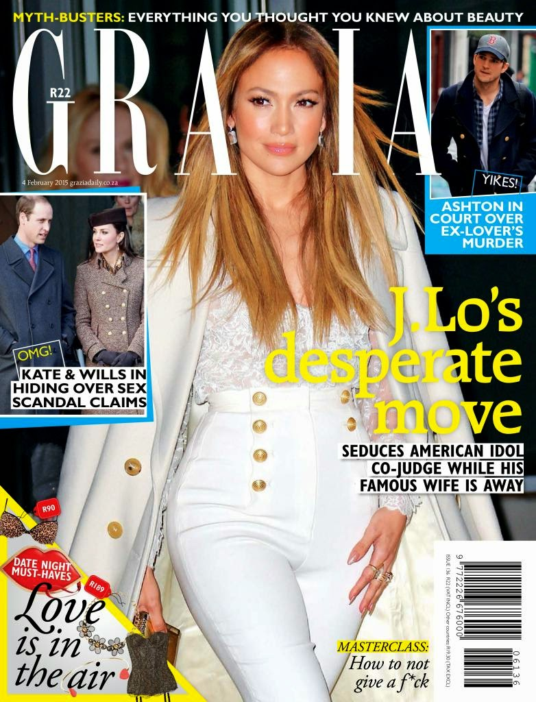 Singer, Actress; Jennifer Lopez for Grazia South Africa