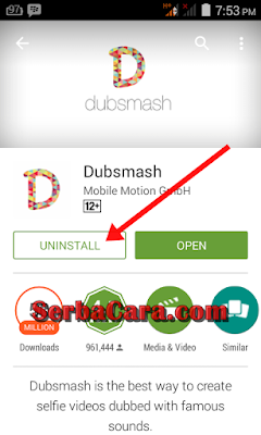 Uninstall Aplikasi Android