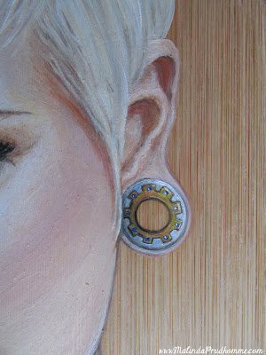 Beauty art, bamboo art, bamboo painting, portrait artist, portrait painting, xena warrior princess, xena painting, tattoo painting