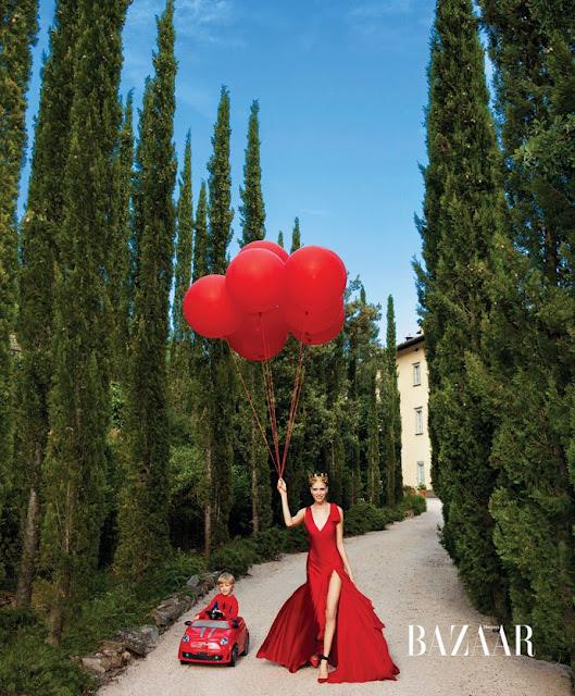 red gowns Donna Karan New York.